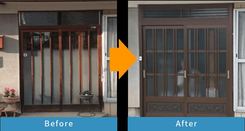 かんたんドアリモ 玄関ドア/玄関引戸Before After1