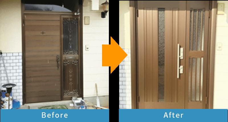 かんたんドアリモ 玄関ドア/玄関引戸Before After3
